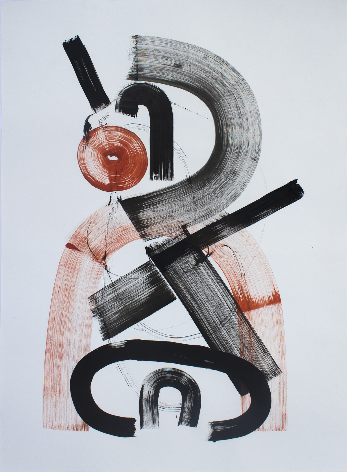 Untitled by Parag Natekar, Illustration Drawing, Acrylic on Paper, Gray color