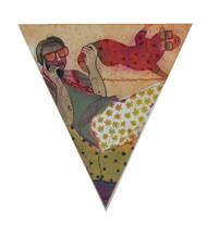 happy by Sonal Varshneya, Pop Art Printmaking, Etching on Paper, White color