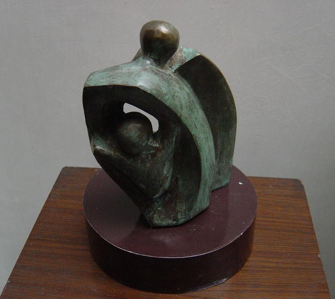 Family by Renu Khandelwal, Art Deco Sculpture | 3D, Bronze, Gray color