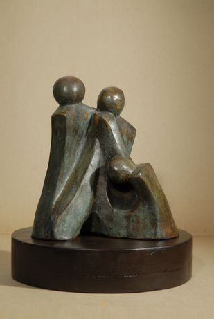Compassion by Renu Khandelwal, Art Deco Sculpture | 3D, Fiber Glass, Beige color