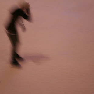 Ice Skating #2 by Shilpa Mukherji, Image Photography, Digital Print on Paper, Brown color