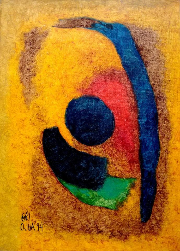 Abstract By Artist Ratnakar Ojha Abstract Print