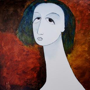 Face Digital Print by Ratnakar Ojha,Expressionism