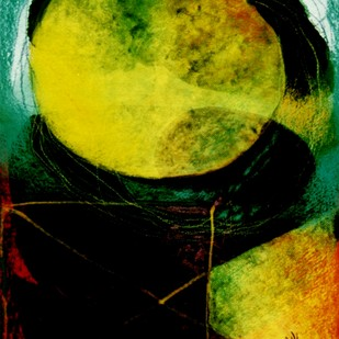 Abstract 12 by Ratnakar Ojha, Abstract Painting, Mixed Media on Paper, Green color