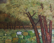 Nature - I by Biraj Kumar Paul, Impressionism Painting, Oil on Canvas, Brown color