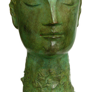 Untitled by Atin Basak, Art Deco Sculpture | 3D, Bronze, Green color