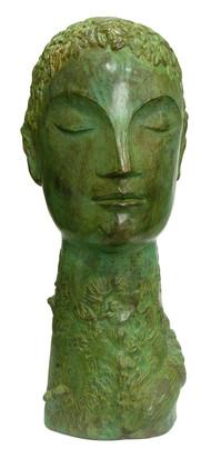 Untitled by Atin Basak, Art Deco Sculpture | 3D, Bronze, Green color