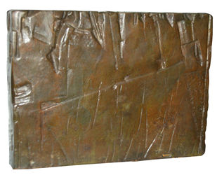 Composition by Ganesh Haloi, Art Deco Sculpture | 3D, Bronze, Brown color
