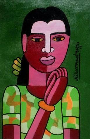 o alochana Digital Print by Naheem Rustum,Folk