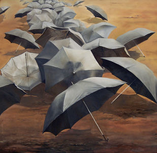 Vision by Amlan Dutta, Realism Painting, Oil on Canvas, Brown color