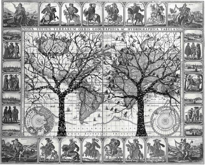 Lavbavarit by Sumit Mehndiratta, Digital Digital Art, Digital Print on Canvas, Gray color