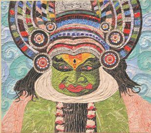 The Kathakali Expressions- 1 Digital Print by Sailesh Sanghvi,Impressionism