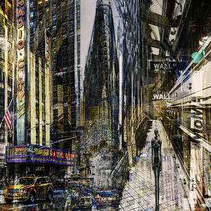 New York # 6 by Ajay Goel, Digital Digital Art, Digital Print on Archival Paper, Gray color