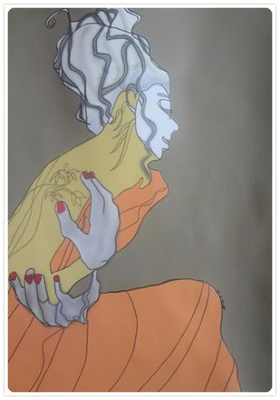 Ehsaas by Amrit Khurana, Expressionism Painting, Acrylic on Paper, Gray color