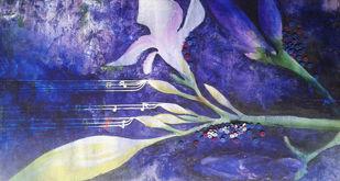 UNTITLED by DISHAKHA YADAV, Fantasy Painting, Mixed Media on Canvas, Blue color