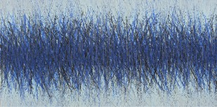UNTITLED #1 by SATISH BHAISARE, Abstract Painting, Acrylic on Canvas, Blue color