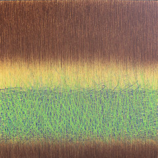 UNTITLED #2 by SATISH BHAISARE, Abstract Painting, Acrylic on Canvas, Brown color