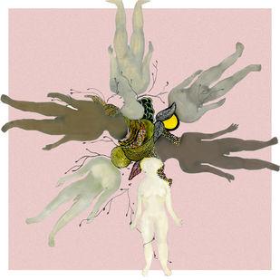 COLOR IN PINK by MOHNA SINGH, Digital Digital Art, Digital Print on Flex, Pink color
