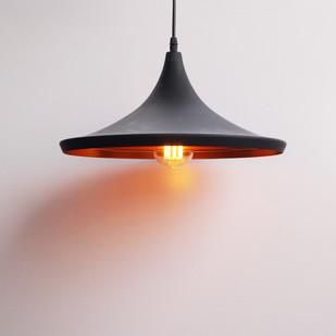 Norwegian Flat Cone Industrial Ceiling Lamp Ceiling Lamp By The Black Steel