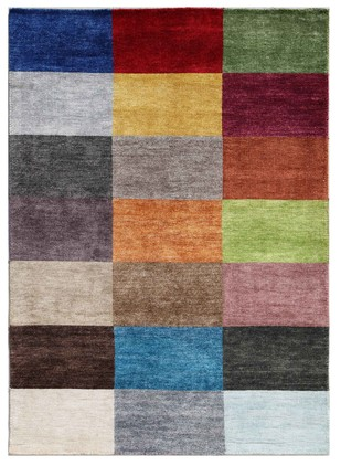 5X8 Hand Knotted Modern Viscose Rug by Jaipur Rugs, Contemporary Carpet and Rug, Viscose, Brown color