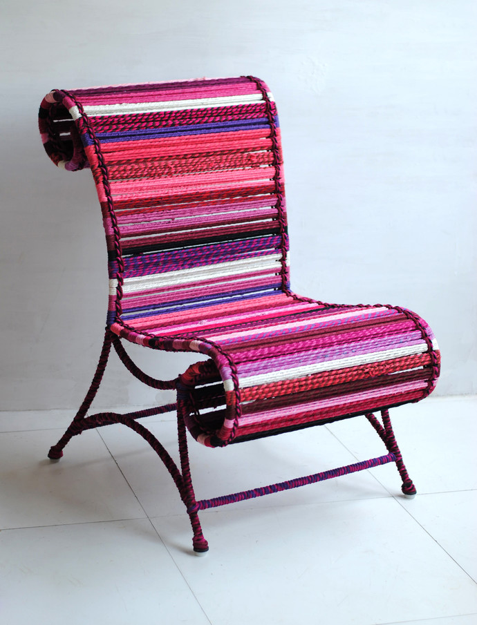 Athena Chair - In Fuchsia Furniture By Sahil & Sarthak