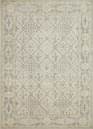 Indian Handmade Rugs 5X8 Hand Knotted Classic Wool Rugs by Jaipur Rugs, Contemporary Carpet and Rug, Wool, Beige color