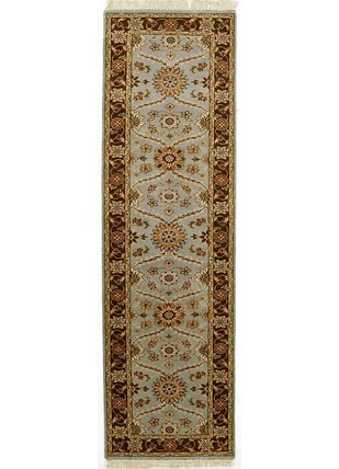 2'6X10 Hand Knotted Classic Wool Rug by Jaipur Rugs, Contemporary Carpet and Rug, Wool, White color