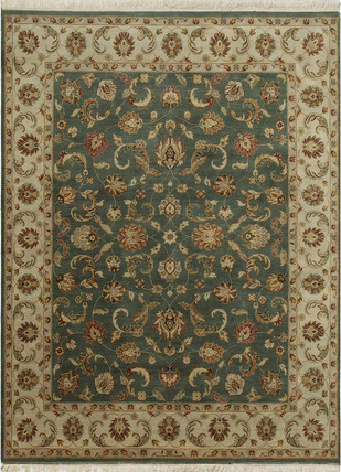 Indian Handmade Rugs 4X6 Hand Knotted Classic Wool Rugs by Jaipur Rugs, Contemporary Carpet and Rug, Wool, Brown color