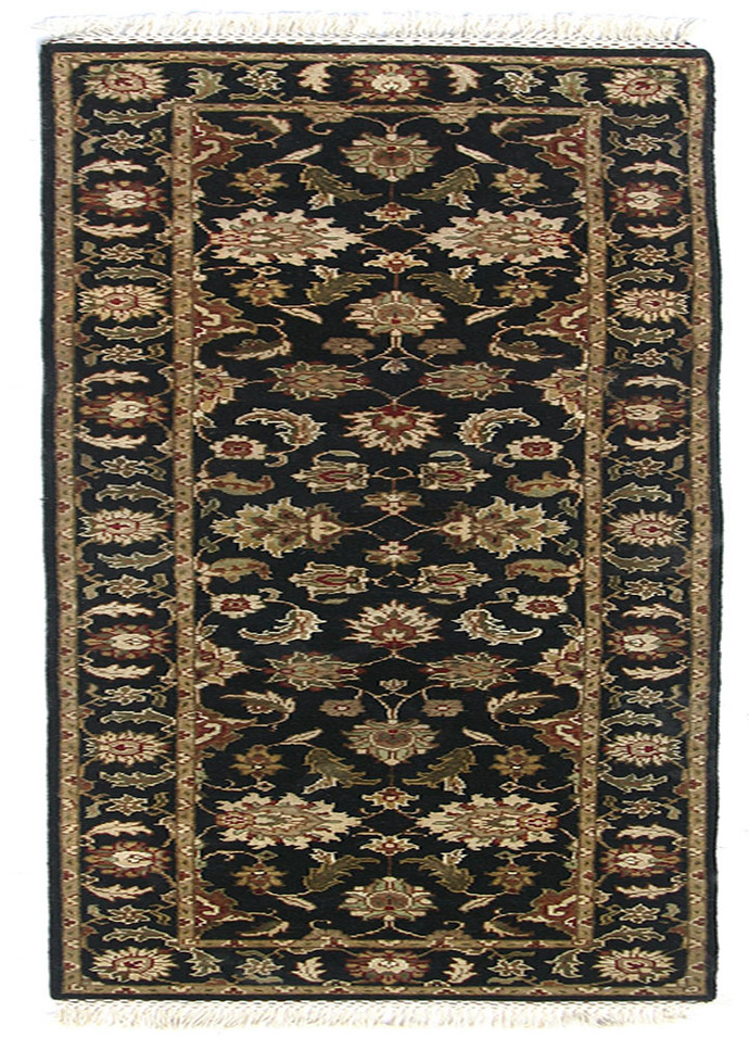 Indian Handmade Rugs 2'6X10 Hand Knotted Classic Wool Rugs Carpet and Rug By Jaipur Rugs