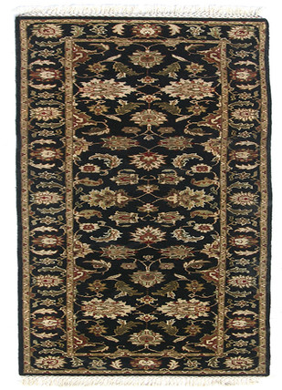 Indian Handmade Rugs 2'6X10 Hand Knotted Classic Wool Rugs by Jaipur Rugs, Contemporary Carpet and Rug, Wool, Brown color