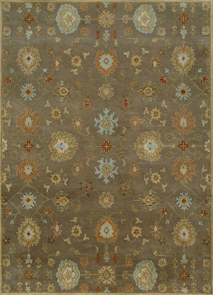 5 X8 Hand Tufted Transitional Wool Rugs Carpet and Rug By Jaipur Rugs