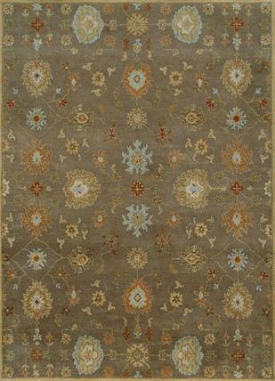 5X8 Hand Tufted Transitional Wool Rugs by Jaipur Rugs, Contemporary Carpet and Rug, Wool, Brown color