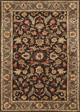 8X10 Hand Tufted Classic Wool Rugs by Jaipur Rugs, Contemporary Carpet and Rug, Wool, Brown color