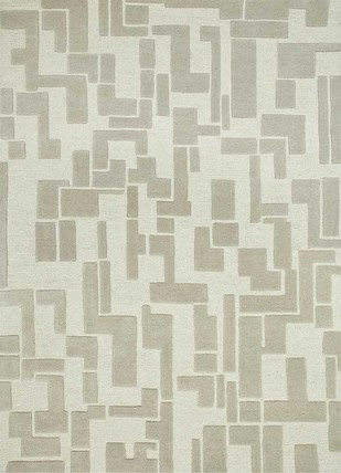 5X8 Hand Tufted Modern Wool Rug by Jaipur Rugs, Contemporary Carpet and Rug, Wool, Beige color