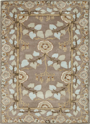 5X8 Hand Tufted Classic Wool Rugs by Jaipur Rugs, Contemporary Carpet and Rug, Wool, Beige color
