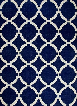5X8 Flat Weave Modern Wool Rug by Jaipur Rugs, Contemporary Carpet and Rug, Wool, Blue color