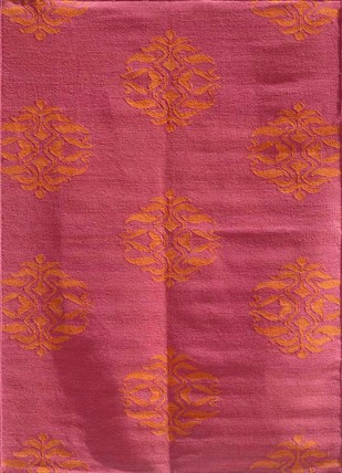 8X10 Flat Weave Wool Rug by Jaipur Rugs, Contemporary Carpet and Rug, Wool, Pink color
