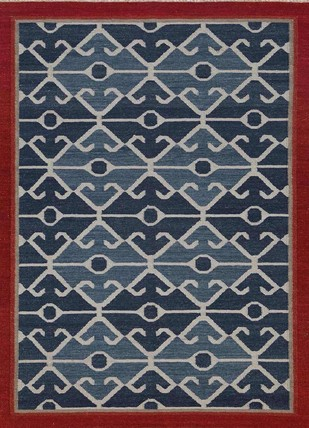 5X8 Flat Weave Wool Rug by Jaipur Rugs, Contemporary Carpet and Rug, Wool, Green color