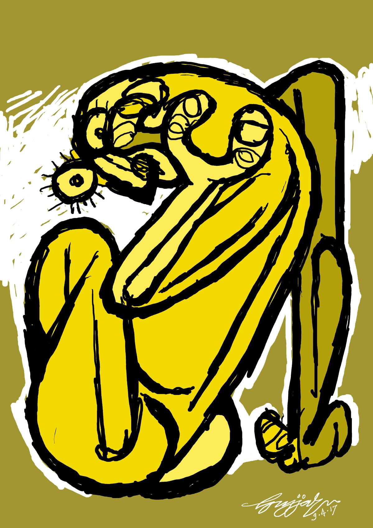 frustration by Gujjarappa B G, Digital Digital Art, Digital Print on Canvas, Green color