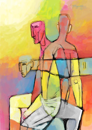 split personality by Gujjarappa B G, Digital Digital Art, Digital Print on Canvas, Beige color