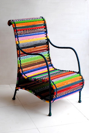 Love Chair In Tropical Multicolour Furniture By Sahil & Sarthak