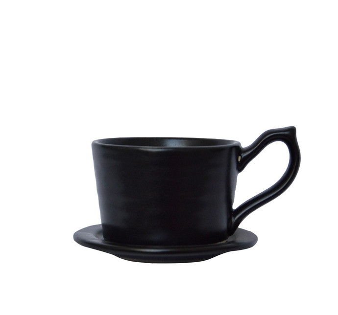 CARA CUP & SAUCER(SET OF 2) Kitchen Ware By Ikka Dukka Studio Pvt Ltd