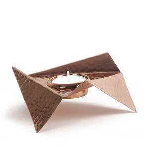 Origami Tealight T-Light and Votive Holder By Studio Saswata