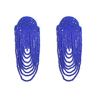 LONG SCALLOP TASSEL EARRINGS by BEGADA, Art Jewellery Earring