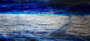 Untitled by Anuja Sane, Abstract Painting, Oil on Canvas, Blue color