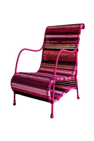 Love Chair In Fuschia Furniture By Sahil & Sarthak