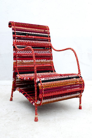 Love Chair In Red Furniture By Sahil & Sarthak