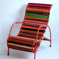 Seraphina chair in orange multicolor 5