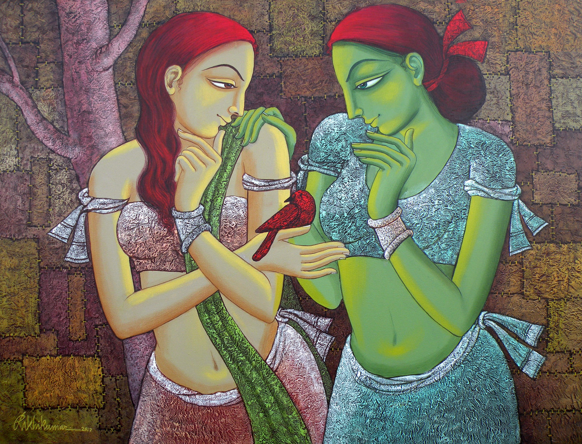 UNSOLVED VENTURE- 204 Digital Print by Rakhi Kumar,Expressionism