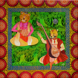 Indian Raaga 'Tilak Kamod' Digital Print by Pragati Sharma Mohanty,Fantasy